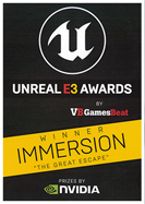 Winner of Unreal e3 Immersion award